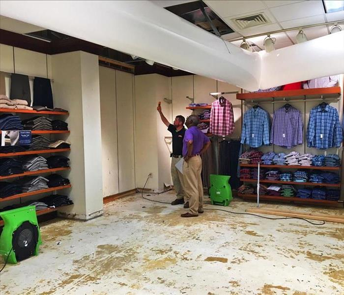 Water Damage in Retail Store